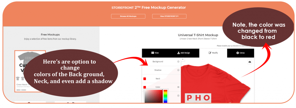 How to access free mockups with Storefront 2