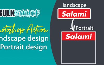 Photoshop Actions to change Landscape Design to Portrait Design