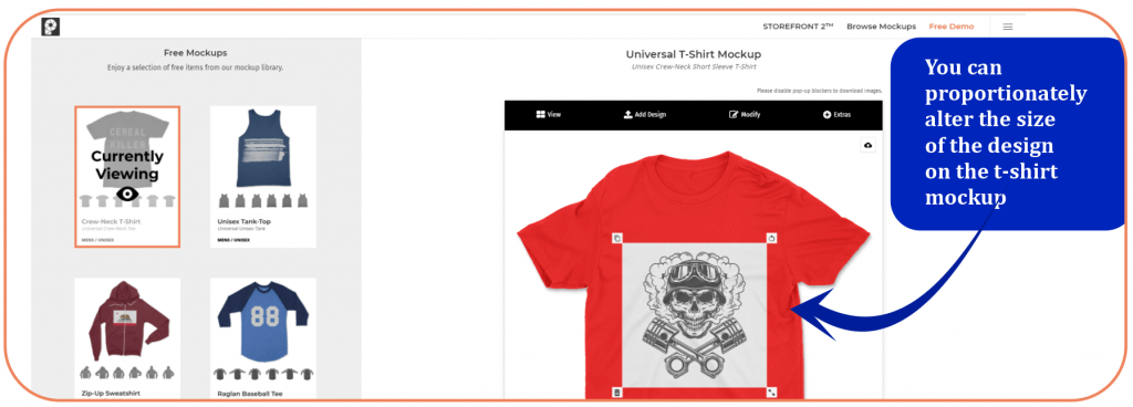 How to customize t-shirt mockup with storefront 2 mockup generator