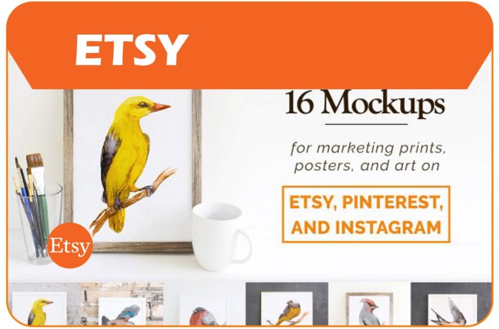 Premium mock-ups from Etsy