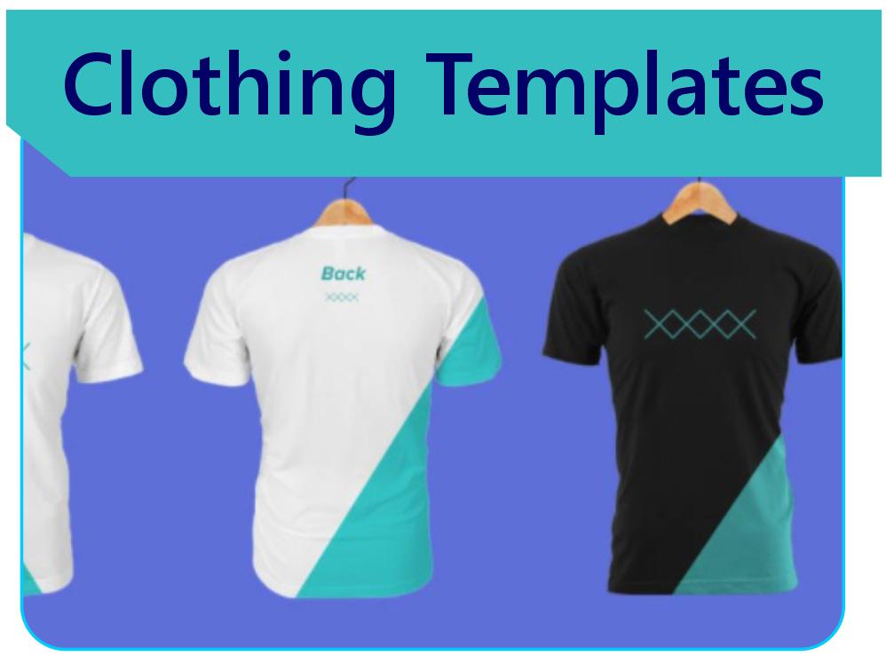 T-shirt mock-up templates