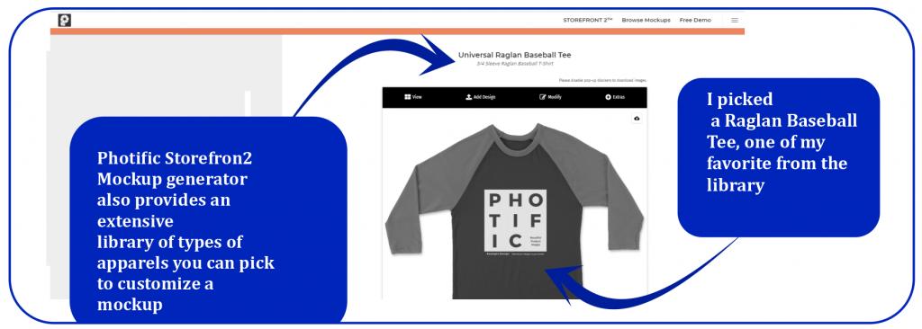 Customizing Raglan Baseball T-shirt with Storefront 2