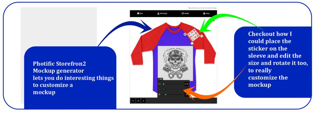 Raglan T-shirt mockup with Storefront 2