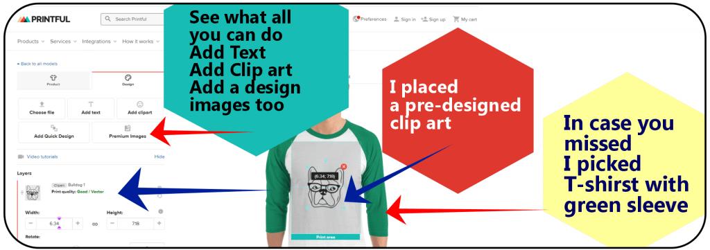 T-shirst Mockup Design with Printful