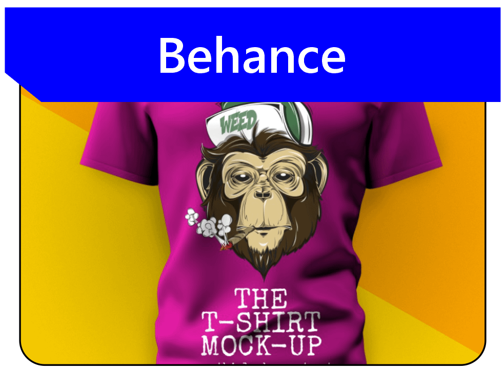 A sample of T-shirt mock-up from Behance